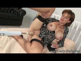 Lady Sonia: Lady Sonia - Trophy Wife Pounded By Huge Fucking Machine